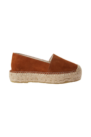 Pavement espadrillos in brown suede