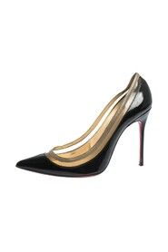 Patent Leather and PVC Paulina Pointed Toe Pumps