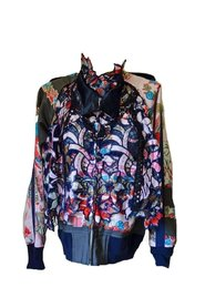Canvas and Broderie Anglaise Souvenir Jacket