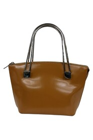 Pre-owned Leather Metal Handle Bag