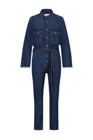 OVERALL WITH FRAYED EDGE