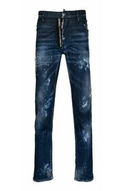 5 pocket jeans with tears