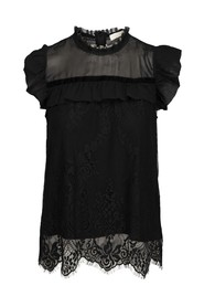 Fay top black lace top