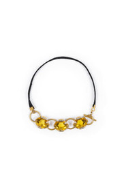 Citrine necklace with gold details