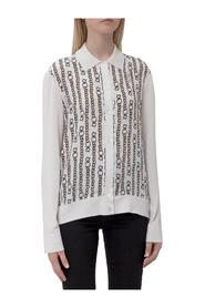 Cardigan with Printed Chains
