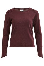 Visentana knit buttom l/s top
