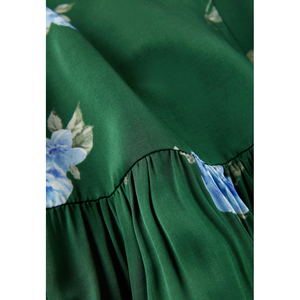 IVY & OAK Green Puffy Skirt with Floral Print IVY & OAK