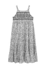 Knælang blomstret kjole