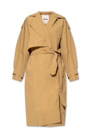Water-repellent trench coat