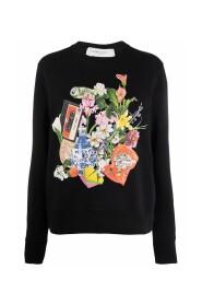 Graphic-print long-sleeve sweatshirt