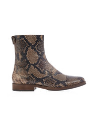 Back Zip Classic Boot with snakeskin