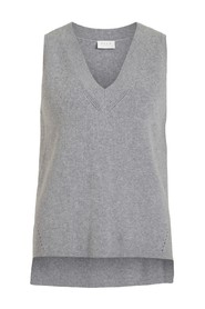 VIRIL KNIT RIB V-NECK  VEST