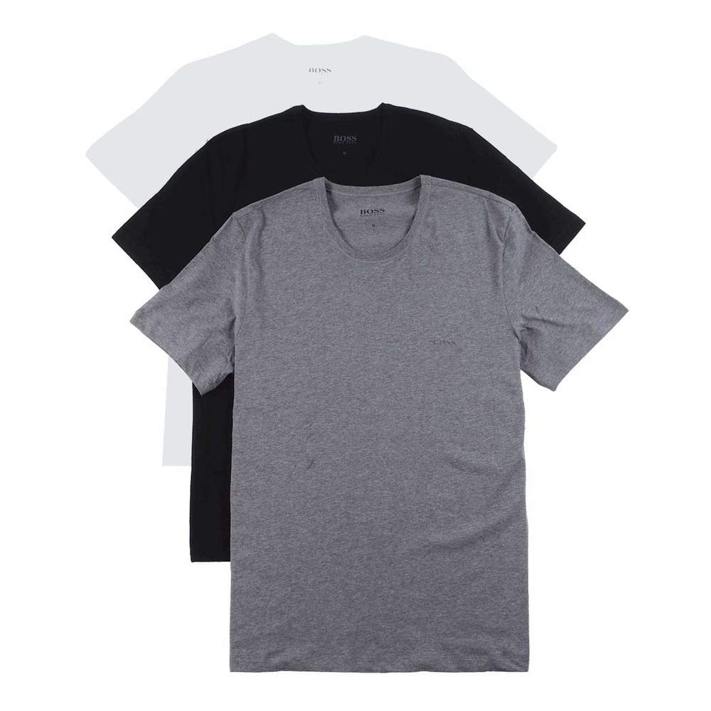 Drievoudig katoenen T-shirt met regular fit
