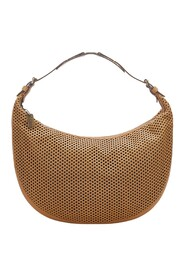 Pre-owned Perforated Hobo Bag Leather Calf