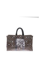 Indian - Customized bag with python details 45 cm