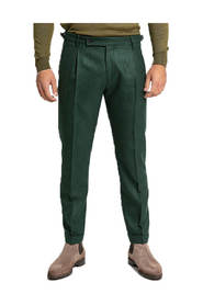Retro Tailored Wool Trousers