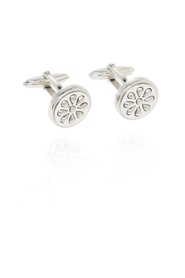 Cufflinks with geometric motif
