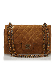 Classic Small Suede Double Flap Bag
