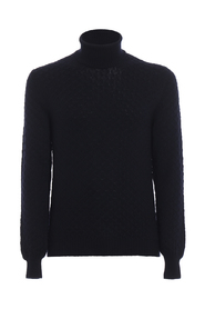 Ribbed edges detail turtleneck