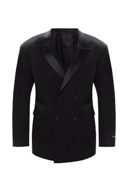 Wool blazer with notch lapels