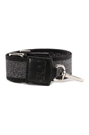 Adjustable shoulder strap in silver glitter
