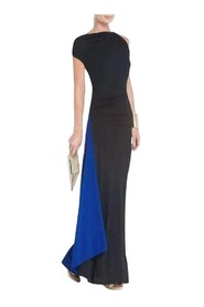 Carine Asymmetrical Draped Evening Gown