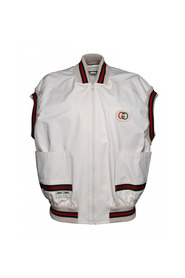 Sleeveless bomber jacket