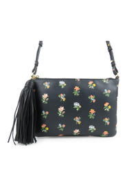 Praire Flower Leather Crossbody Bag