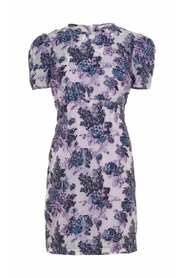 Mini dress Floral-print jacquard