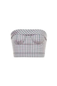 Betty Bustier With Check Pattern