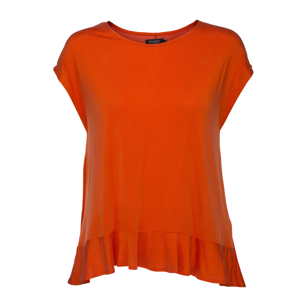Soaked in Luxury Siff Top Spicy orange
