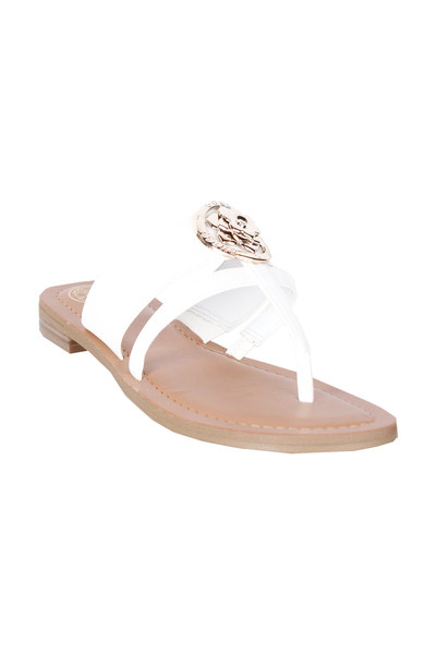 Guess WHITE Schoenen slippers Sandalen - Wit