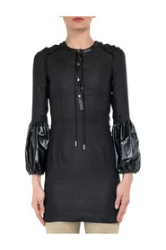 Mini Dress with Puff Sleeves