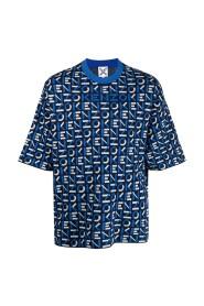 Monogramm übergroßen T-Shir