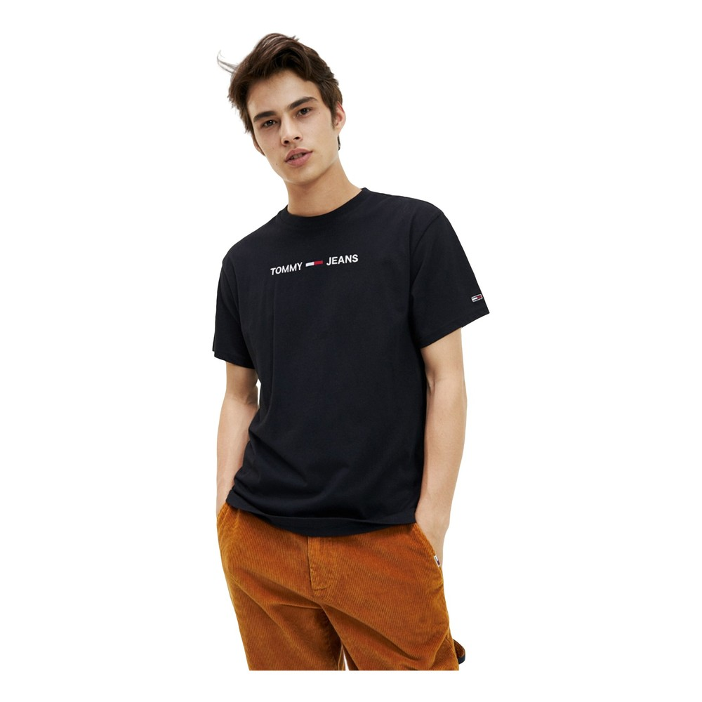 Tommy Jeans Dm0Dm07231 Small Logo T Shirt AND Tank Men Tommy black