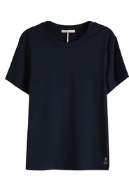 Maison Scotch Merecerized Tee navy