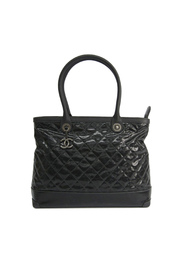 Quilted Coated Canvas Tote Bag