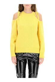 Cashmere sweater with cut-out