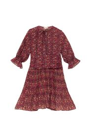 Chiffon Plisse Mini Dress
