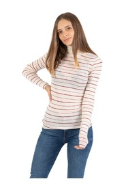 Super light turtleneck with striped rice
