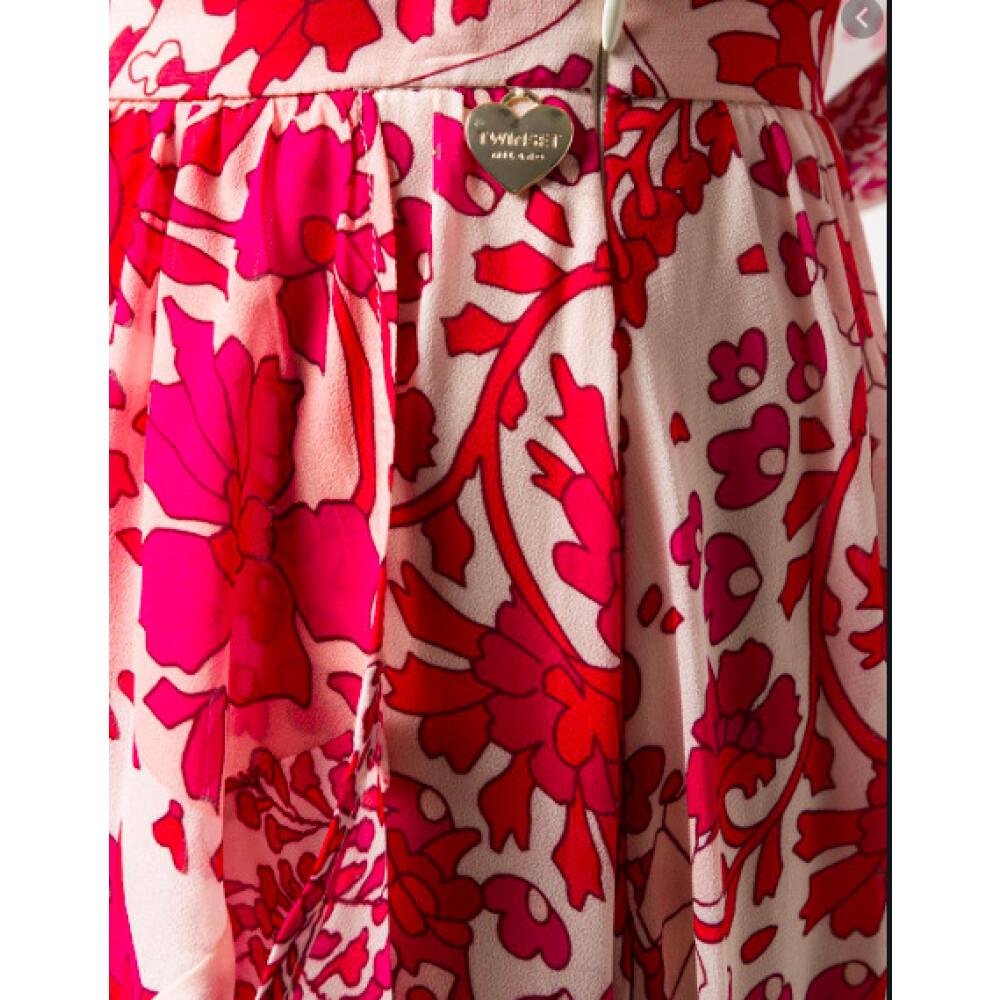 Twinset Pink Skirt Print Twinset
