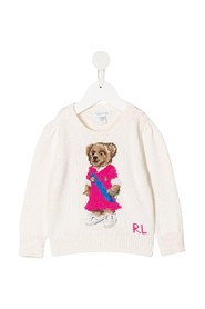 Jersey Sweater with Teddy Bear