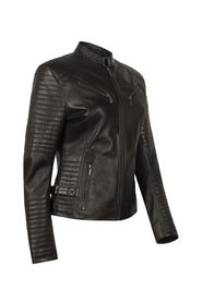 LIGHT SHADOW BIKER LEATHER JACKET