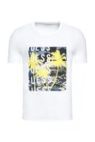 Tee shirt stretch à motif palmiers