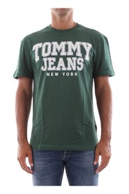 TOMMY JEANS DM0DM05113 ESSENTIAL COLLEGE T SHIRT AND TANK Men GREEN