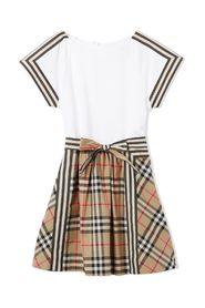 Vintage check detail dress