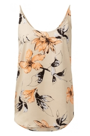 YAYA - Reversible Strappy top With Flower Print - Sand Dessin
