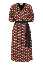 Meghan Wrap Dress Trapez aop