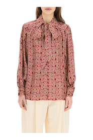 blouse with jl monogram print