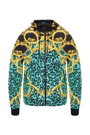 Barocco-printed hooded jacket